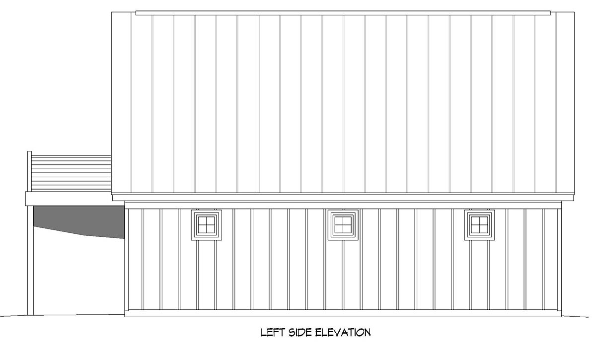 Bungalow, Country, Craftsman, Traditional 2 Car Garage Apartment Plan 52113 Picture 2