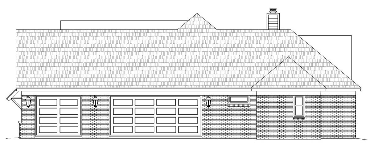 French Country, Ranch, Traditional House Plan 52117 with 3 Beds, 3 Baths, 3 Car Garage Picture 1