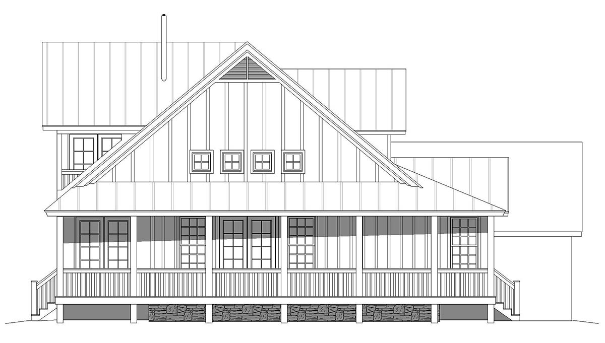 Country, Farmhouse, Traditional House Plan 52134 with 3 Beds, 3 Baths, 2 Car Garage Picture 2