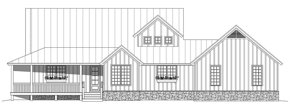Country, Farmhouse, Traditional House Plan 52134 with 3 Beds, 3 Baths, 2 Car Garage Picture 3