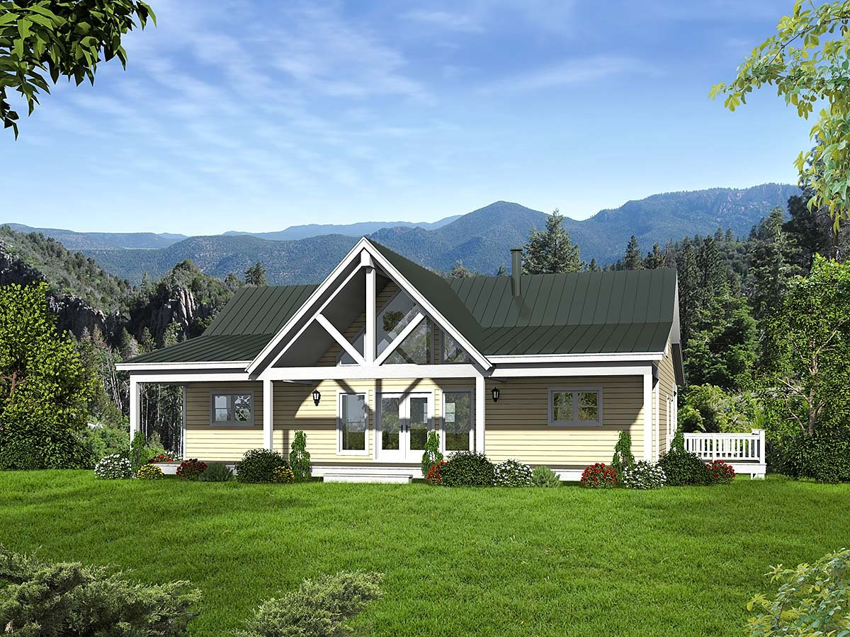 Country, Ranch, Traditional House Plan 52135 with 2 Beds, 3 Baths, 1 Car Garage Elevation