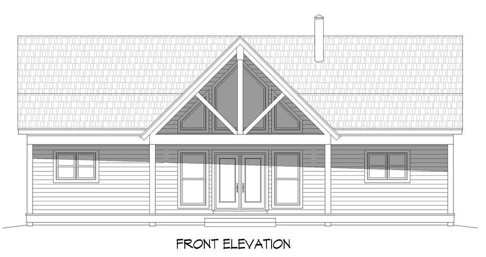Country, Ranch, Traditional House Plan 52135 with 2 Beds, 3 Baths, 1 Car Garage Picture 3