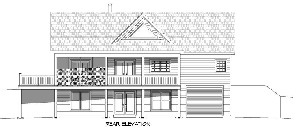 Country, Ranch, Traditional House Plan 52135 with 2 Beds, 3 Baths, 1 Car Garage Picture 4