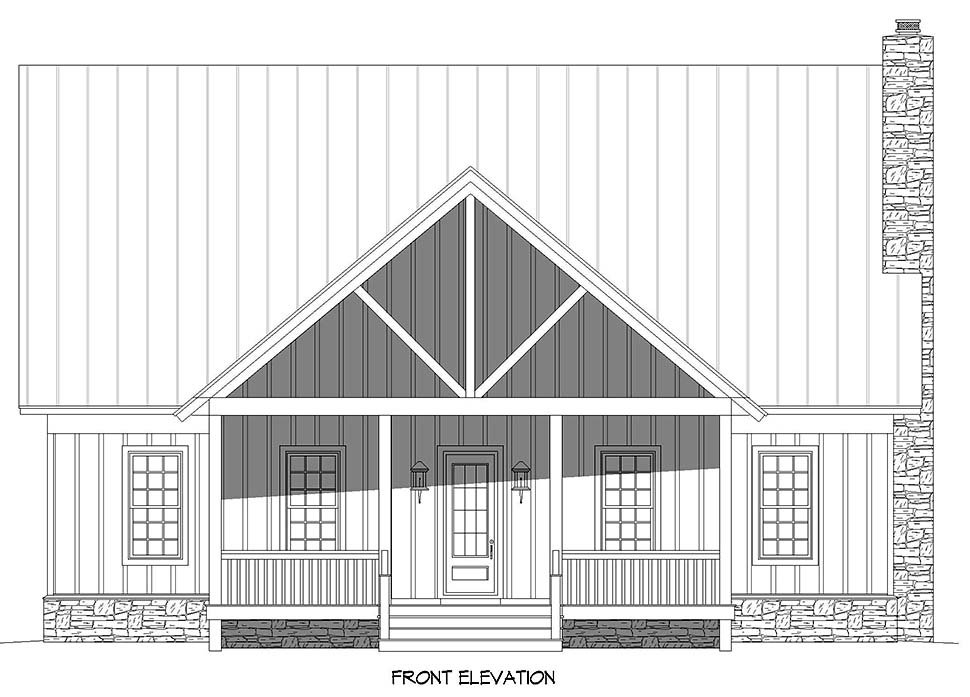 Bungalow, Country, Craftsman, Farmhouse House Plan 52140 with 3 Beds, 4 Baths, 2 Car Garage Picture 3