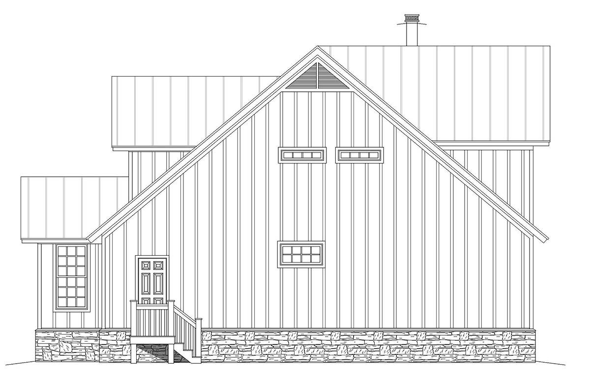 Country, Farmhouse, Traditional House Plan 52143 with 3 Beds, 4 Baths Picture 1