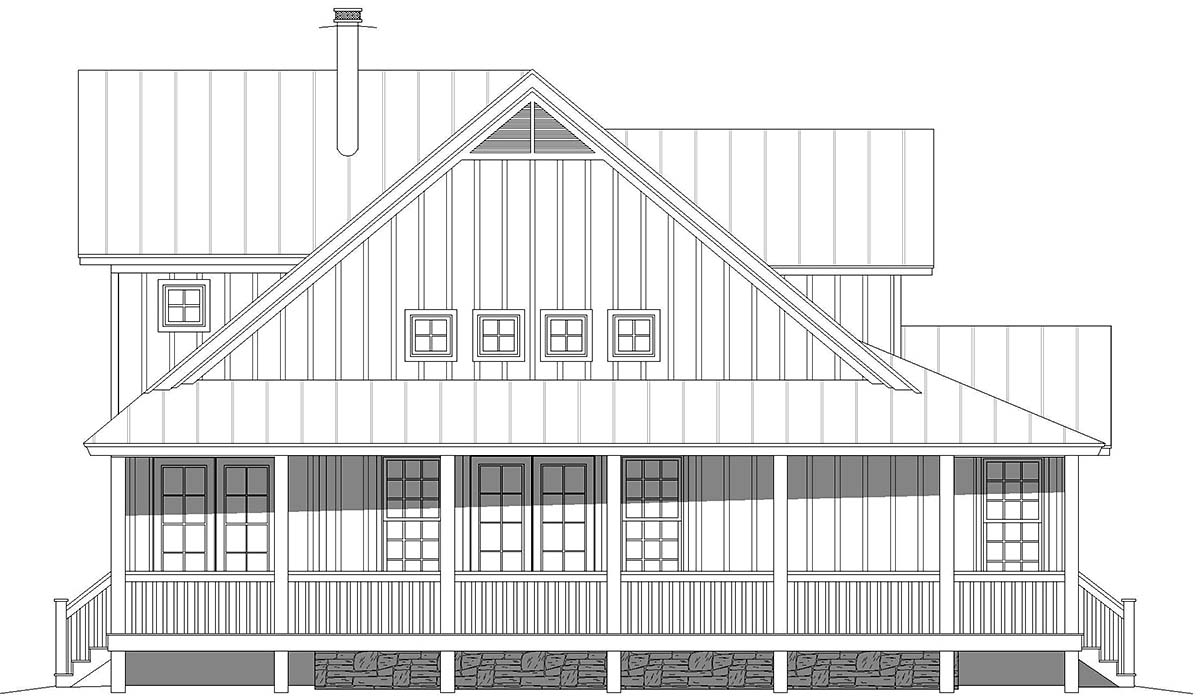 Country, Farmhouse, Traditional House Plan 52143 with 3 Beds, 4 Baths Picture 2