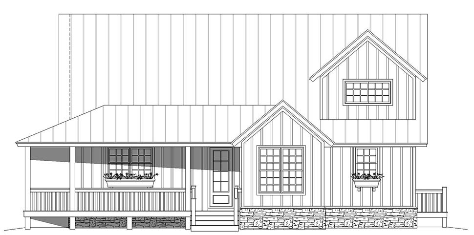 Country, Farmhouse, Traditional House Plan 52143 with 3 Beds, 4 Baths Picture 3