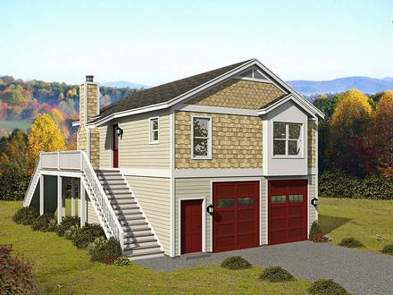Garage-Living Plan 52147