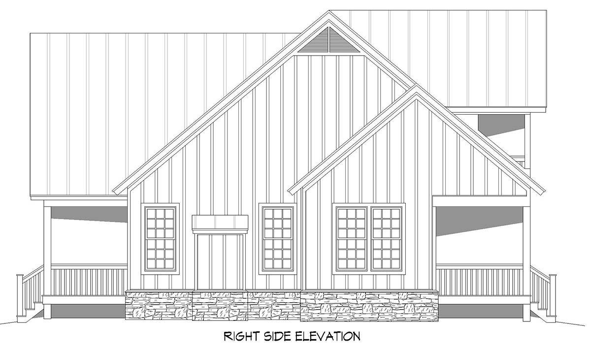 Cabin, Country, Farmhouse House Plan 52150 with 3 Beds, 3 Baths, 2 Car Garage Picture 1