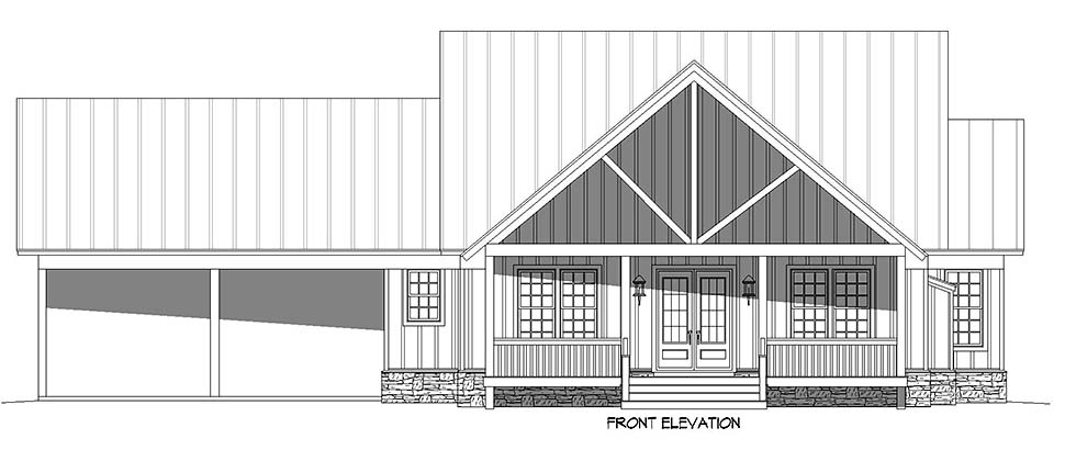 Cabin, Country, Farmhouse House Plan 52150 with 3 Beds, 3 Baths, 2 Car Garage Picture 3