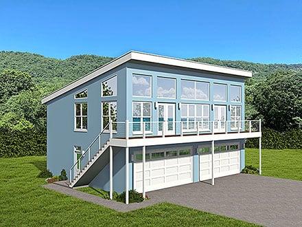 Garage-Living Plan 52156