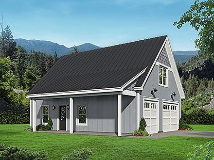 Garage-Living Plan 52185