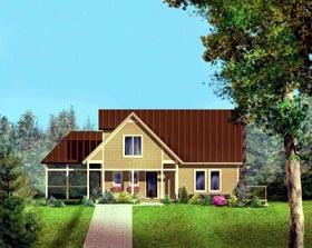 House Plan 52313 Elevation