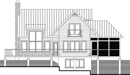 House Plan 52313 Rear Elevation