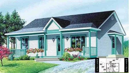House Plan 52324 Elevation
