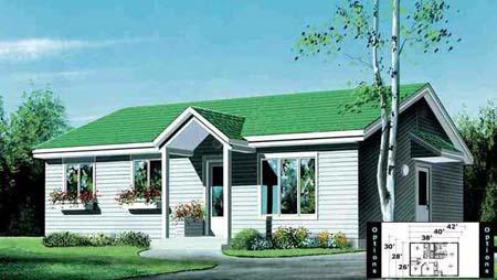 House Plan 52342 Elevation