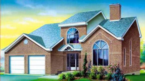 House Plan 52378 with 3 Beds, 2 Baths, 2 Car Garage Elevation