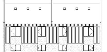 Multi-Family Plan 52446 Rear Elevation