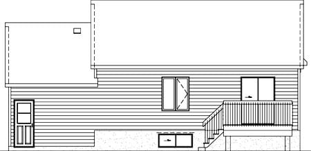 House Plan 52515 Rear Elevation