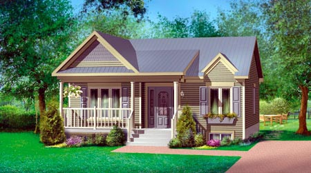 House Plan 52519 Elevation