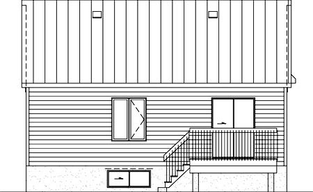 House Plan 52519 Rear Elevation