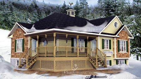 House Plan 52529 with 3 Beds, 1 Baths Elevation