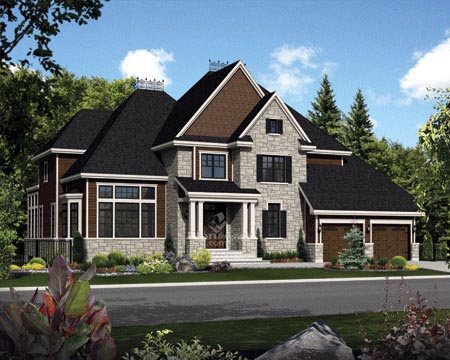 House Plan 52656 with 3 Beds, 3 Baths, 2 Car Garage Elevation