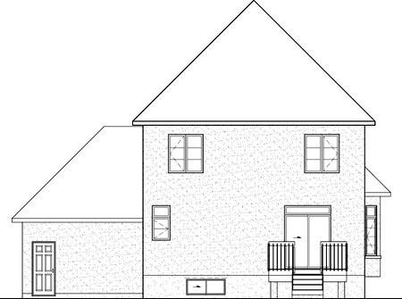 House Plan 52665 Rear Elevation