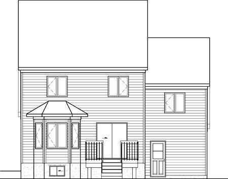 House Plan 52676 Rear Elevation