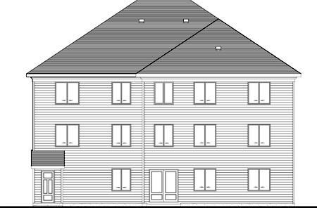 Multi-Family Plan 52763 Rear Elevation