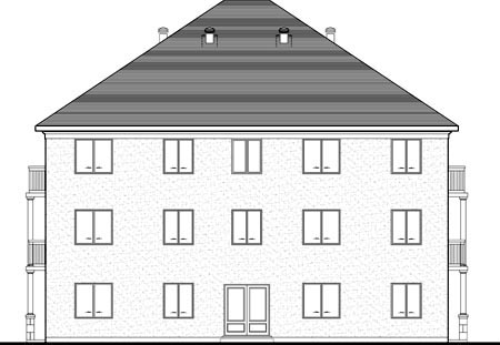 Multi-Family Plan 52764 Rear Elevation