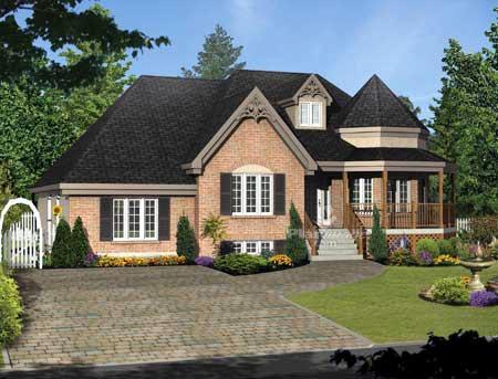 House Plan 52773 Elevation