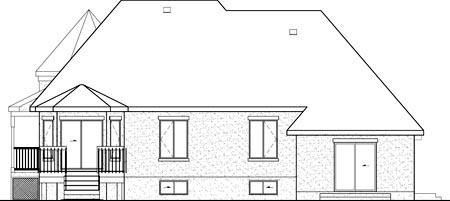 House Plan 52773 Rear Elevation