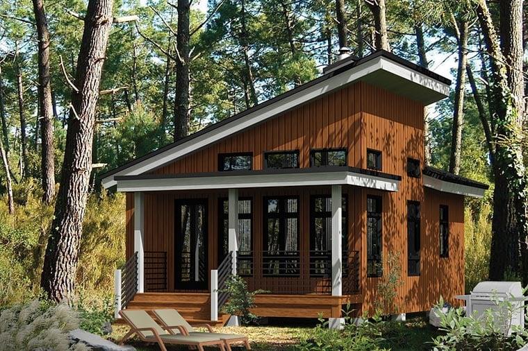 Contemporary House Plan 52781
