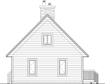 House Plan 52801 Rear Elevation
