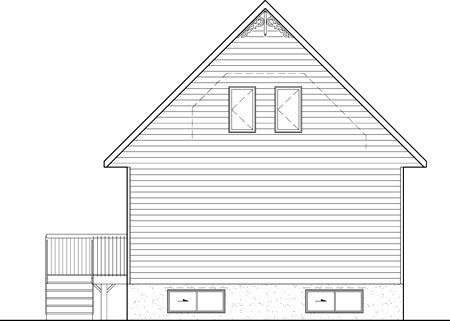 House Plan 52812 Rear Elevation