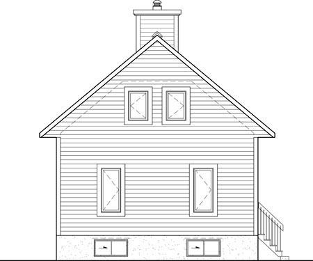 House Plan 52815 Rear Elevation