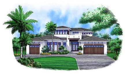Contemporary Elevation of Plan 52903