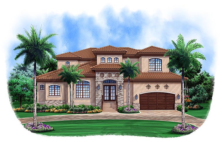 Mediterranean House Plan 52907