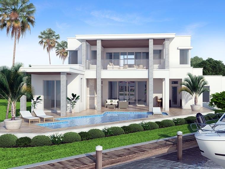 Contemporary Modern House Plan 52917 Rear Elevation