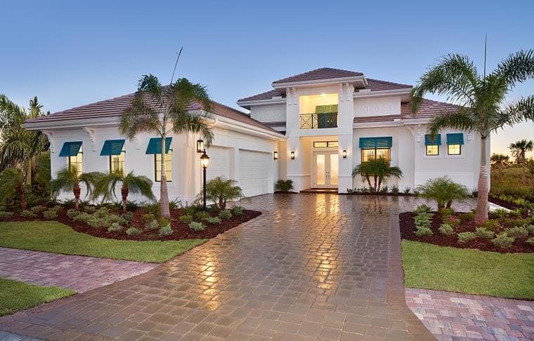 Coastal Florida Mediterranean House Plan 52919 Elevation
