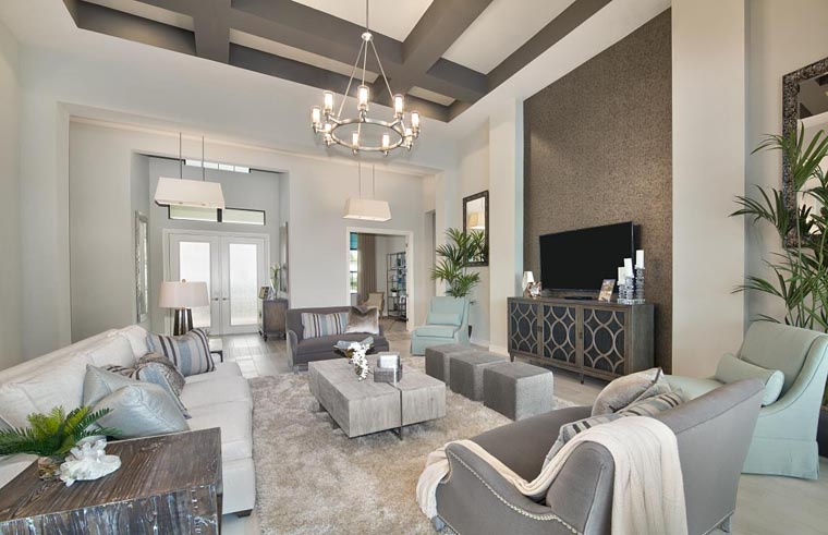 Coastal, Florida, Mediterranean House Plan 52919 with 4 Beds, 5 Baths, 3 Car Garage Picture 3