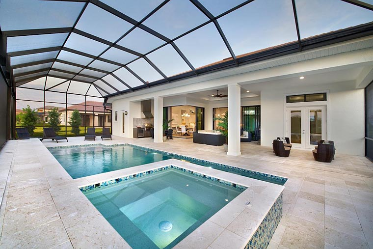 Coastal, Florida, Mediterranean House Plan 52919 with 4 Beds, 5 Baths, 3 Car Garage Picture 9