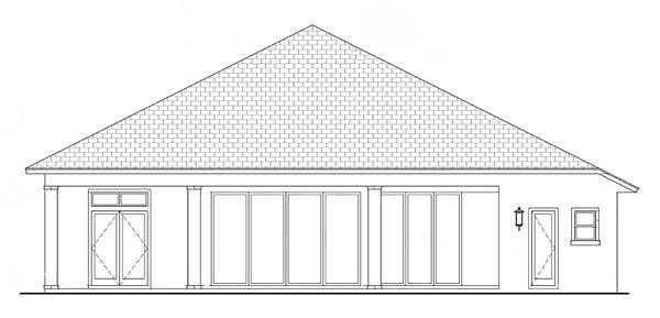 Coastal Florida Mediterranean House Plan 52919 Rear Elevation