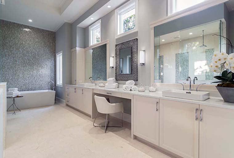 Coastal, Florida, Mediterranean House Plan 52928 with 4 Beds, 6 Baths, 4 Car Garage Picture 11