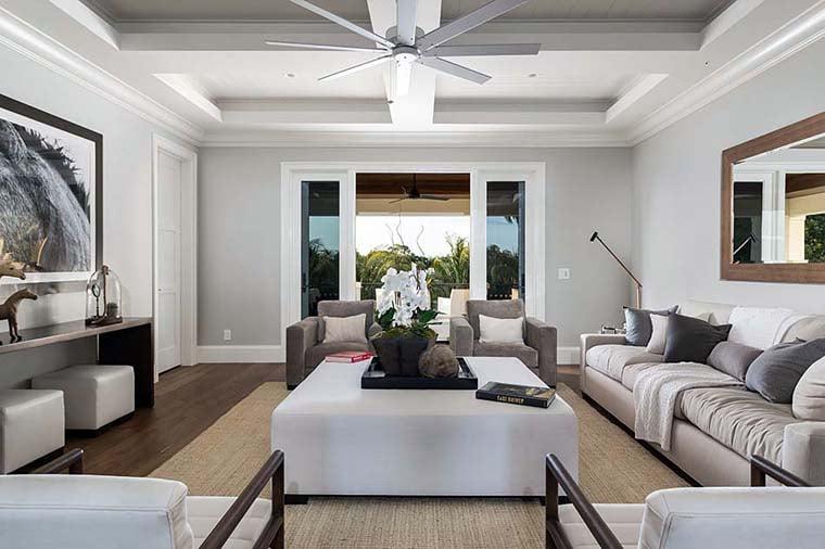 Coastal, Florida, Mediterranean House Plan 52928 with 4 Beds, 6 Baths, 4 Car Garage Picture 14