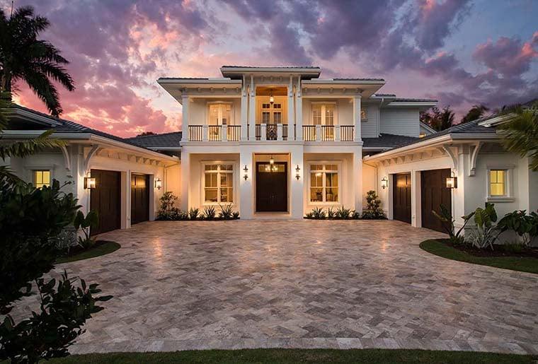 Coastal, Florida, Mediterranean House Plan 52928 with 4 Beds, 6 Baths, 4 Car Garage Picture 15