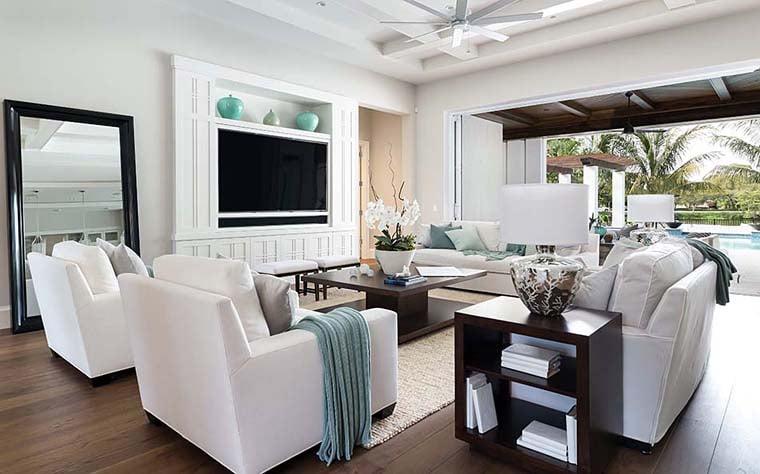 Coastal, Florida, Mediterranean House Plan 52928 with 4 Beds, 6 Baths, 4 Car Garage Picture 2
