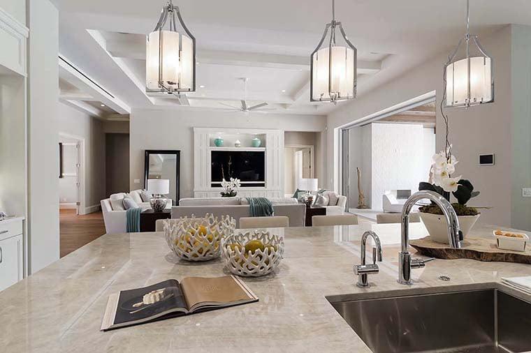 Coastal, Florida, Mediterranean House Plan 52928 with 4 Beds, 6 Baths, 4 Car Garage Picture 3