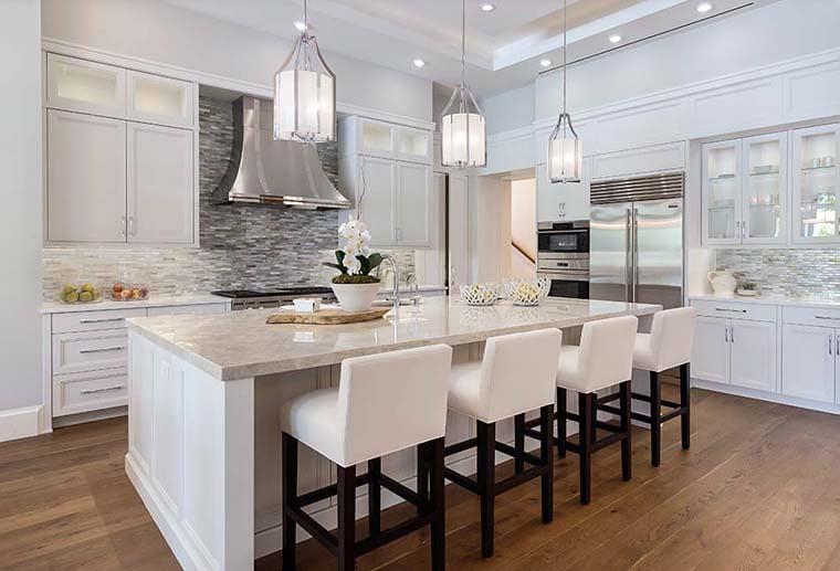 Coastal, Florida, Mediterranean House Plan 52928 with 4 Beds, 6 Baths, 4 Car Garage Picture 5